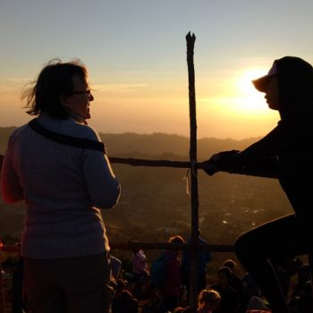 climbing mount batur for sunrise