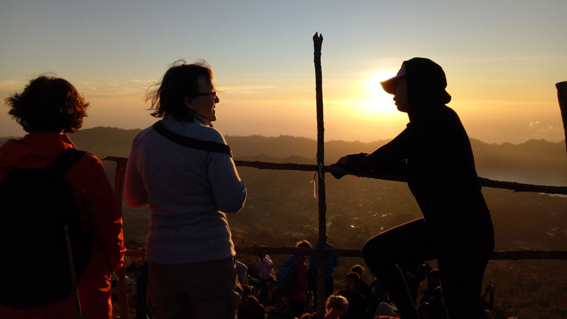 climbing mount batur for sunrise